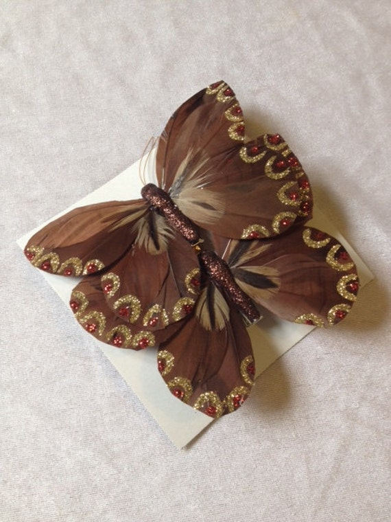 Butterfly brown 2 butterflies 4 8 inches scrapbooking cake - Brown butterfly meaning money ...