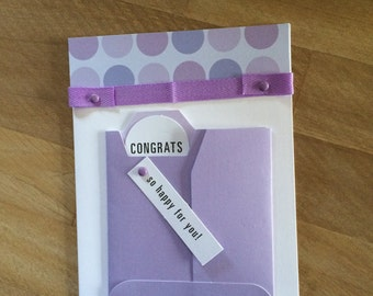 Congratulations Card for her with Envelope