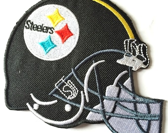 Steelers  3.5 x 2.5 inch patch iron on or sew on