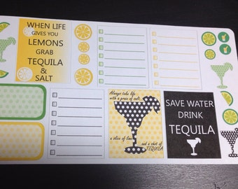 Guilty Pleasures Tequila stickers set -  for your EC planner
