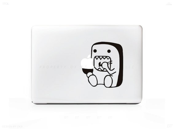 Domo Eating Sticker Decal For Mac