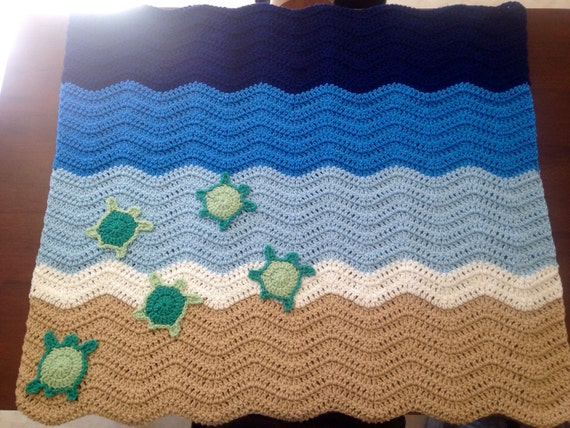 Sea Turtle Crochet Blanket Pattern Crochet Sea Turtle Baby
