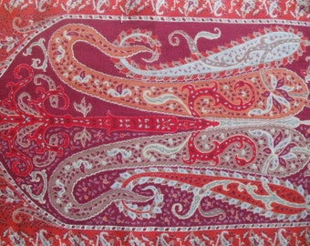 Cinnamon and Marsala Paisley Oblong Scarf Muffler