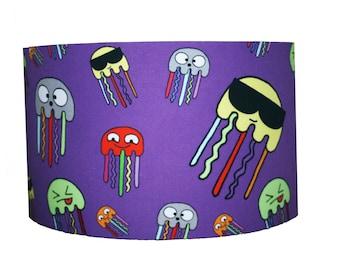 "Octopus Sea Creature Print Fabric Childrens Lampshade Kids 12"" SALE"
