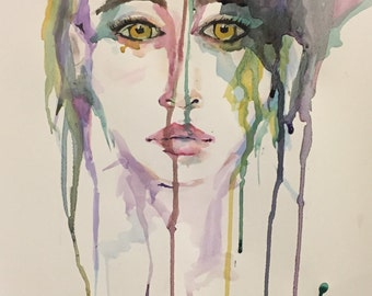 "Digital Print of Watercolor Painting - ""Piece of Mind"""