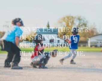 8x10 Playing the Game Baseball Fine Art Photography Print