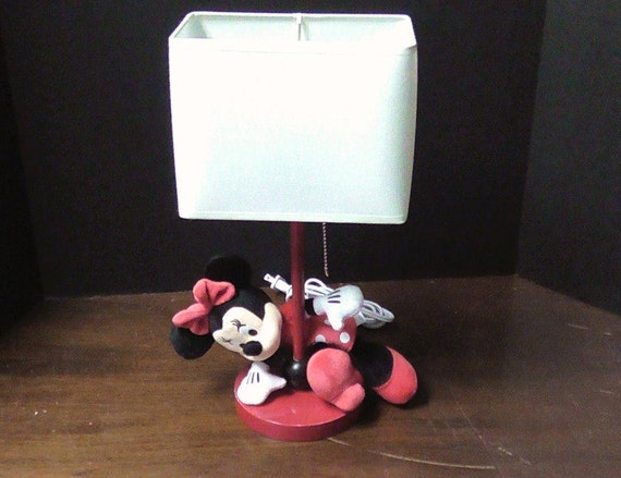 small minnie mouse lamp by shadeyladieslamps on etsy. Black Bedroom Furniture Sets. Home Design Ideas