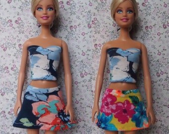 Barbie low-waisted Skirt/ Barbie Dress/ Barbie Clothes/