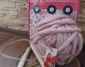 DIY Knit Kit, Super Chunky Blanket Knit Kit 28'' x 47'', Chunky blanket, Diy Kit, Make your own Chunky Knit Blanket, Diy home decor