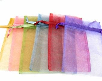 100 mix Organza Bags, 4 x 6 inch