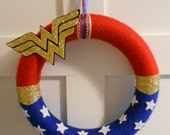 Custom Wonder Woman Wreath ~ Superhero Wreath