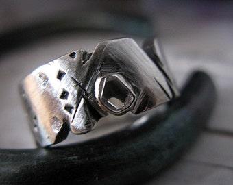 Diamond Slice Ring Size 7 Mens Wedding Band Unique Mens Wedding Band Mens Wedding Ring Mens Wedding Rings Viking Wedding Ring Modern Ring