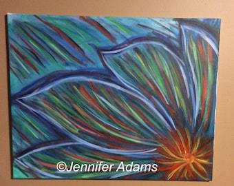 Flower, Abstract Flower, Abstract art, Abstract Painting, Art, Ready to Hang
