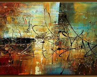 Abstract oil painting This beautiful Art is 100% hand-painted on canvas signed by the artist #YTH- (23)