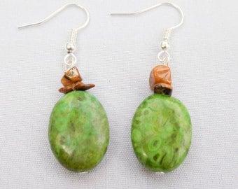 Handmade Tigereye & Gemstone Earrings. Kuauitl Earrings