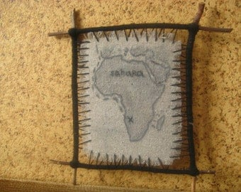 Decorative Panel with Map of Africa