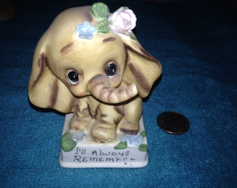Porcelain Joseph Originals Elephant Hand Painted