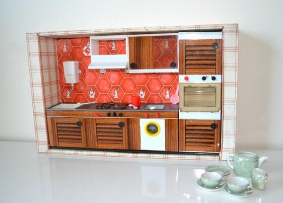 cuisine jouet ann es 60 vintage en t le et plastique. Black Bedroom Furniture Sets. Home Design Ideas