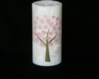 Birthday Party Favor Godparent Candle with Tree