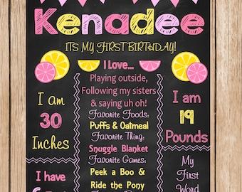 Lemonade Birthday Chalkboard