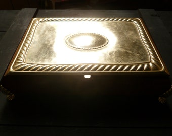 Wonderful Sterling Silver & Root Boot Jeweler Box. 70's