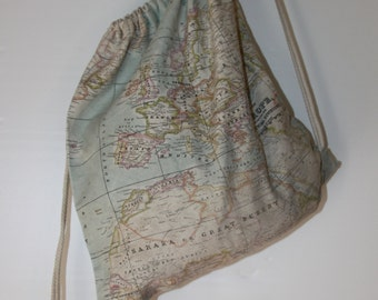 The world map backpack to carry anywhere