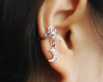 Cubic moon Ear Cuff, Ear Jacket, Ear Wrap / price per 1 single cuff