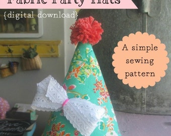 Fabric Party Hats (A Simple Sewing Pattern)