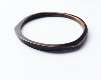 Forged Copper Bangle, Handmade Jewelry by MENGXUAN LIU