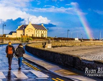 Ireland Landscape Rainbow over Aran Islands, Ireland - Home Wall Decor Fine Art Print