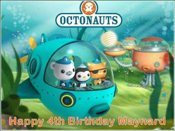 A4 Octonauts Edible Icing Cake Topper by christinecaketoppers
