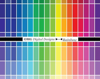 SALE 130 Rainbow Colored Solid Digital Papers - 8.5x11 included - Rainbow + Neutral