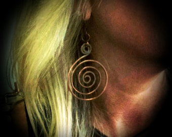 Inspirals Handcrafted Copper Earrings