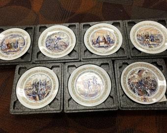 Set of 7 Vintage Limoges Plates