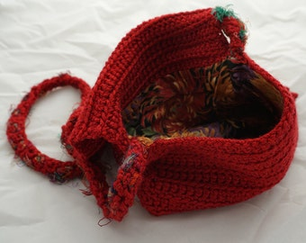 Crochet handbag - Red