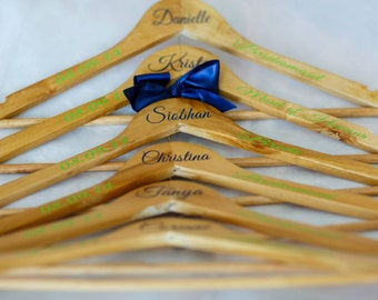Personalized Bridal Party Hangers