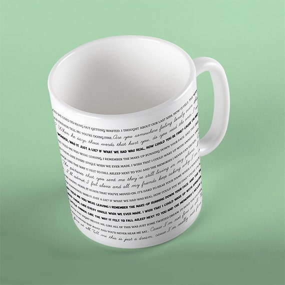 Coffee Mug Amnesia Lyrics Mug - 5sos