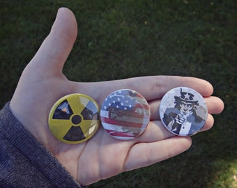 The Last of US Set of 3 Ellie Cosplay Buttons