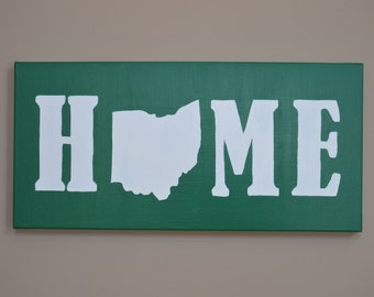 Home State Personalized Canvas Wall Art (12x25)