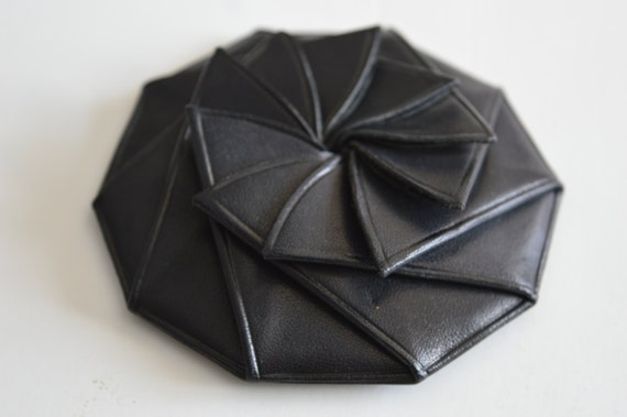 Handcrafted Origami Leather Coin Purse - photo#29
