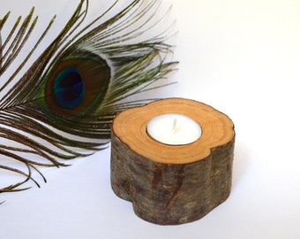 "SALE-25% Wooden candleholder, tealight holder, wooden candlestick, wooden tealight holder, h=5 cm (1.97"")"