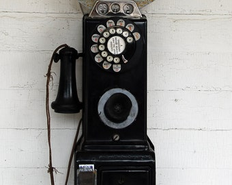 Old Pay Telephone, Color Photograph, Leelanau, Michigan