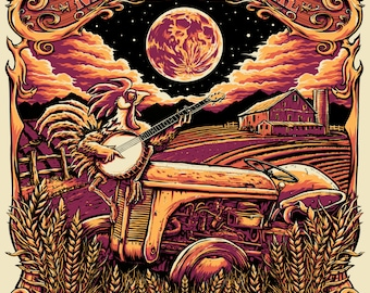 2014 Harvest Music Festival Poster by Pete Schaw