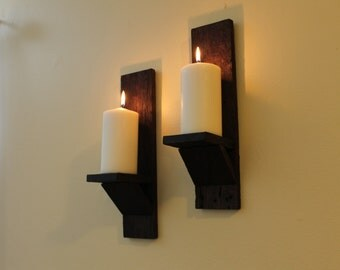 Pallet Wood Wall Sconces, Rustic Wall Sconces, Re-purposed wood wall sconces