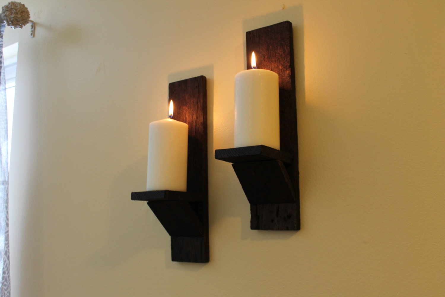 Pallet Wood Wall Sconces Rustic Wall Sconces Re-purposed