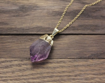 Raw Amethyst Point Pendant ONLY (AP11)