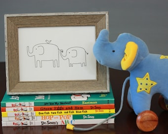 Elephant no. 3 Drawing, reproduction from original ink drawing