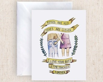 Love Your Butt Watercolor Card