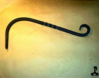 Wrought Iron Plant Hanger with Twist