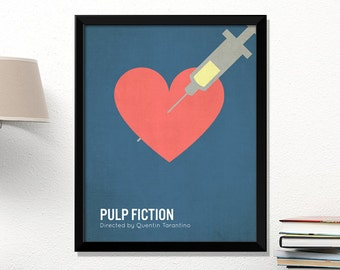 Pulp Fiction movie poster, minimalist, cinema, Pulp Fiction, Quentin Tarantino, contemporary art